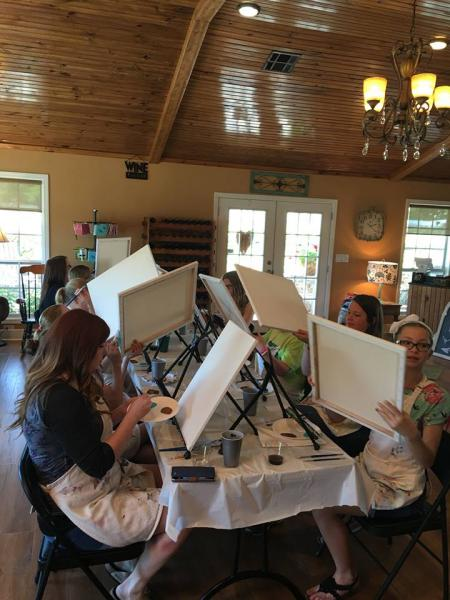 [Image: White canvas to something magical, Waddell Vineyards' painting classes will leave you with more knowledge and a memento of Oklahoma that you can treasure for years to come!]